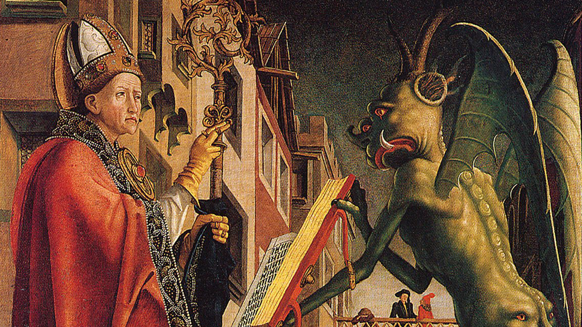 Michael Pacher , Saint Augustine and the devil 1435-1498